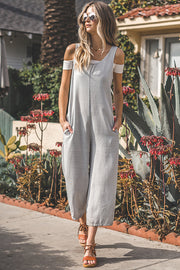 Denim U-Neck Jumpsuit - Nixon & Co Boutique