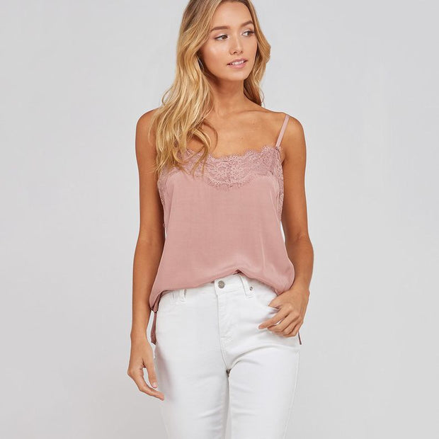 Mauve Cami With Lace - Nixon & Co Boutique