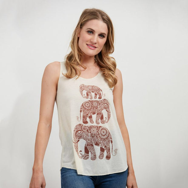 Multi Elephant Tank - Nixon & Co Boutique
