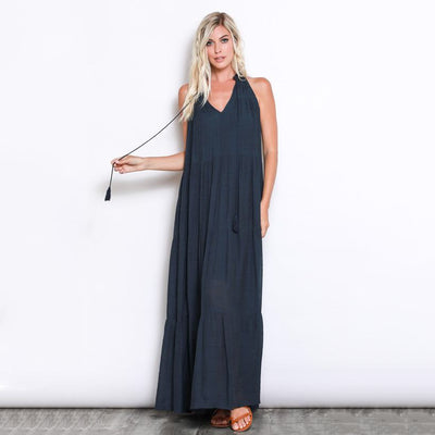 Must Have Navy Bohemian Dress - Nixon & Co Boutique