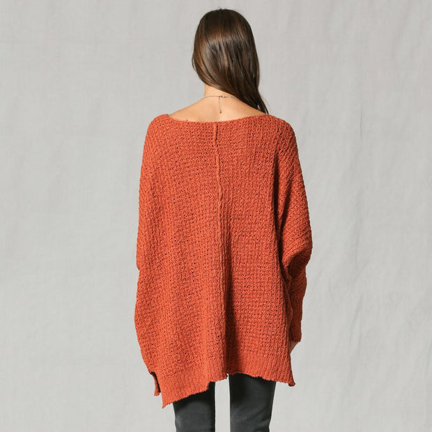 New Rust Oversized Knitted Sweater - Nixon & Co Boutique