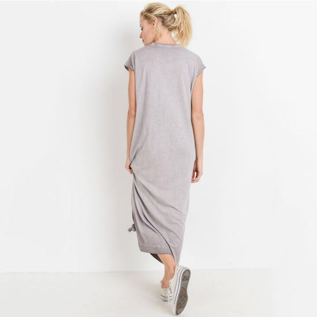 Oil Washed Long Sack Dress - Nixon & Co Boutique