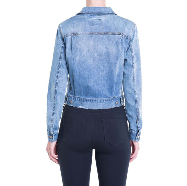Pleated Front Denim Jacket - Nixon & Co Boutique