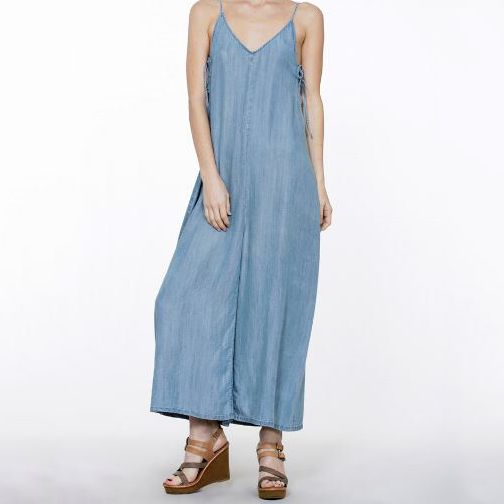 Sleeveless Denim Jumpsuit - Nixon & Co Boutique