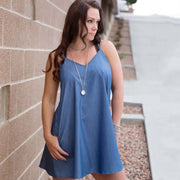 Spaghetti Strap Denim Dress - Nixon & Co Boutique