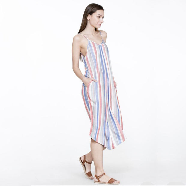 Striped Sleeveless Jumpsuit - Nixon & Co Boutique
