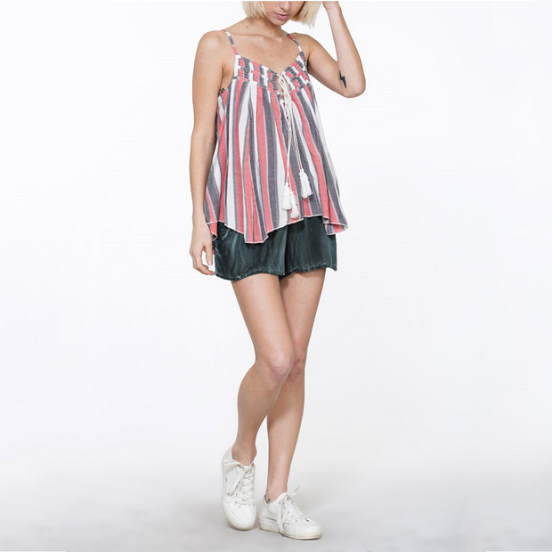 Striped Tassel Halter - Nixon & Co Boutique