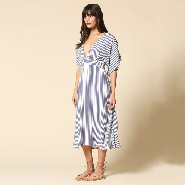 Striped Mid Length Dress - Nixon & Co Boutique