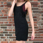 Black Dress With Side Ties - Nixon & Co Boutique