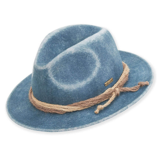 Blue Wool Safari Hat - Nixon & Co Boutique