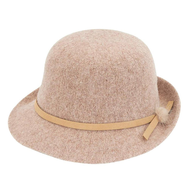 Camel Wool Cloche - Nixon & Co Boutique