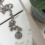 Silver Coin Necklace - Nixon & Co Boutique