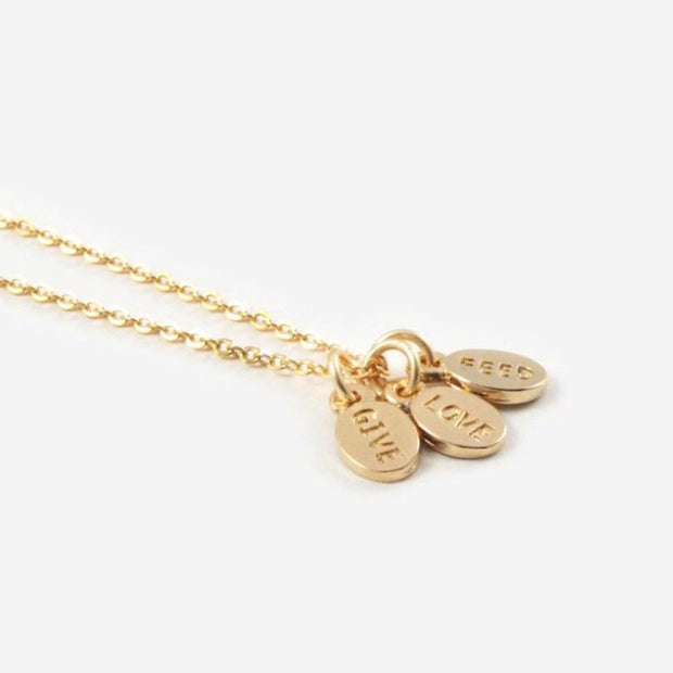 Give, Love, Feed Charm Necklace - Nixon & Co Boutique