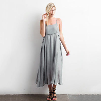 Dusty Sage Bohemian Dress - Nixon & Co Boutique
