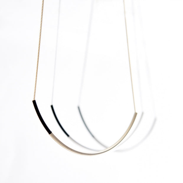 Gold Arc Necklace - Nixon & Co Boutique