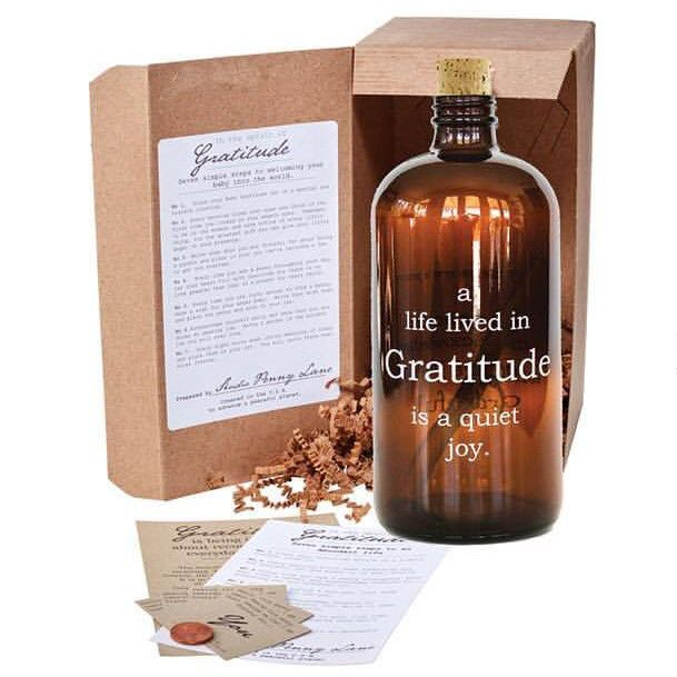 Gratitude Amber Apothecary Jar - Nixon & Co Boutique