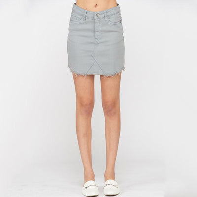 Green Denim Skirt - Nixon & Co Boutique