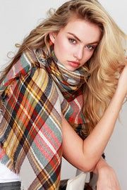 Oversize Plaid Blanket Scarf - Nixon & Co Boutique