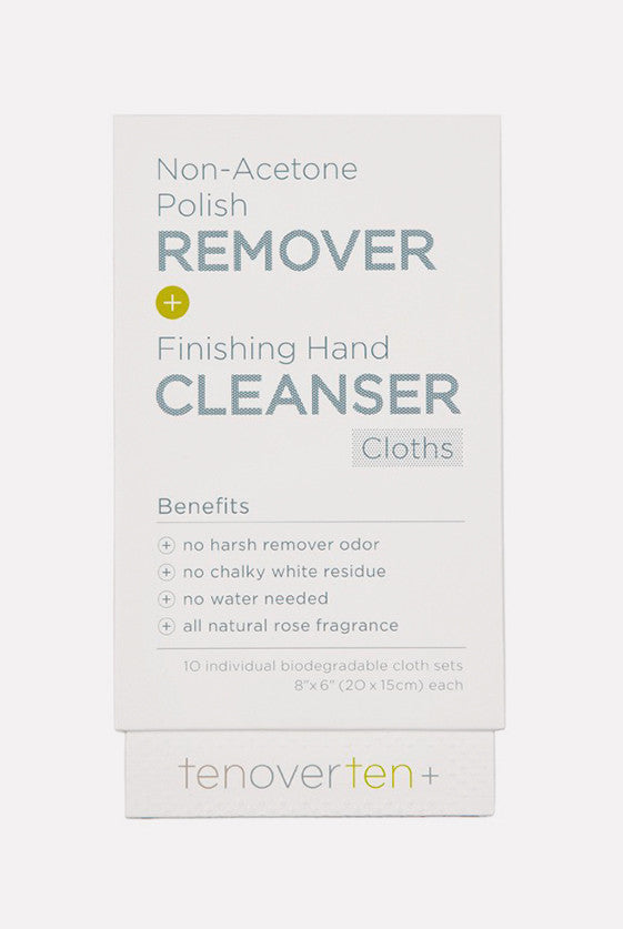 Non-Acetone Polish Remover + Finishing Hand Cleanser Cloths