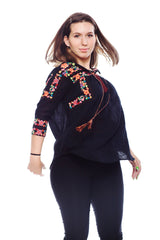 KNVAZ - Women - MADELINE - MULTI EMBROIDERED BLOUSE