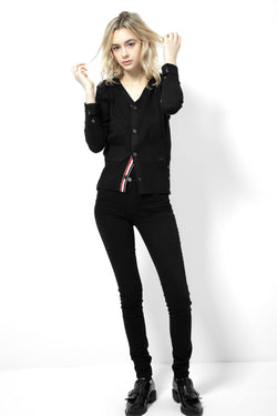 *NEW*   KAT - PREPPY  CARDIGAN (BLACK)