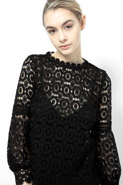 KNVAZ - Women - *NEW*   PHYLLIS - VICTORIAN LACE BLOUSE (BLACK)