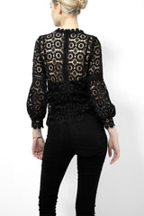 *NEW*   PHYLLIS - VICTORIAN LACE BLOUSE (BLACK)