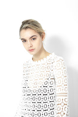 KNVAZ - Women - *NEW*   PHYLLIS - VICTORIAN LACE BLOUSE (WHITE)