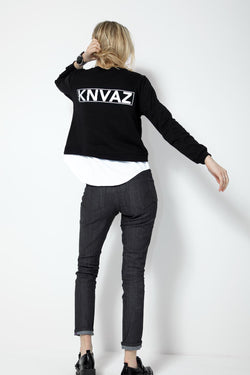KNVAZ - Women - *NEW*   KNVAZ 2FER SWEATSHIRT (BLACK)