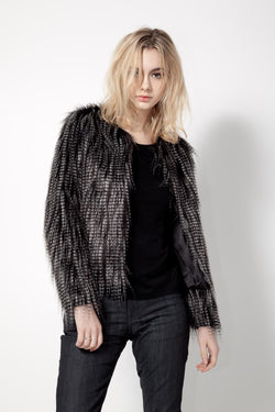 KNVAZ - Women - *NEW*   BETTY-GLAMOROUS FAUX FUR JACKET