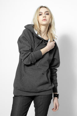 KNVAZ - Women - *NEW*   KNVAZ BACK LOGO HOODIE  (Dk Grey Heather)