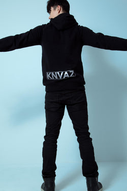 KNVAZ - Men - *NEW*   KNVAZ BACK LOGO HOODIE  (BLACK)