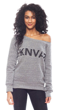 KNVAZ - Women - LILI - KNVAZ FLEECE WIDE NECK SWEATSHIRT