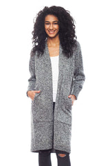 KNVAZ - Women - MONIQUE - MELANGE SWEATER COAT (GREY)