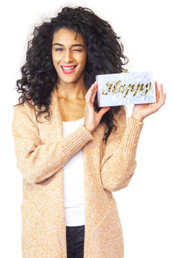 KNVAZ - Women - HAPPY - BOX CLUTCH