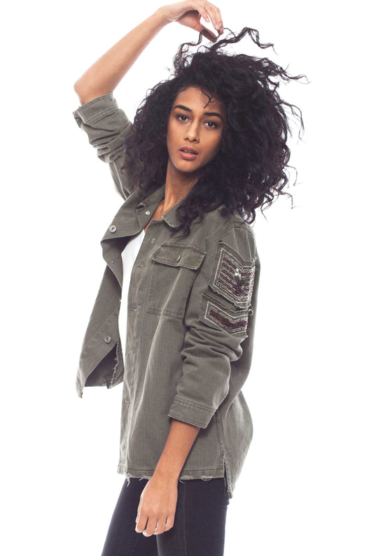 KNVAZ - Women - LAUREN - DESTROYED MILITARY JACKET