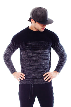 KNVAZ - Men - DAVID - STRIPE MELANGE SWEATER