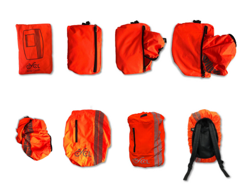 foldable high visibility waterproof backpack cover