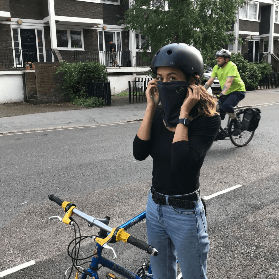 WhitePalm Face Covering with Integrated Filter Air Filtering Scarf Neck Gaiter Anti Pollution Anti Allergy Washable One Size Fits All for Cycling