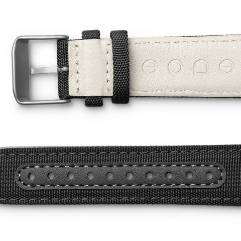 Canvas strap / noir side view