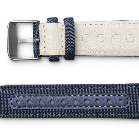 Canvas strap / aqua side view