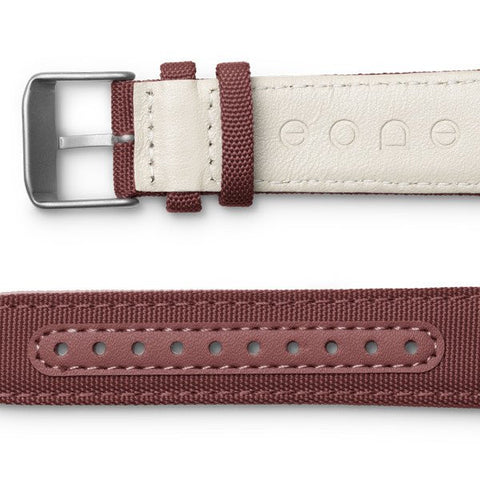 Canvas strap / crimson side view