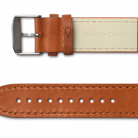 Leather strap / cognac side view