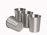 Stainless Steel cups for kids toddlers and adults.  Set of 4 8oz. cups.