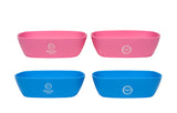 Bravaware BravaBowl Set:  4 Silicone Bowls BLUE and PINK