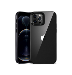 iPhone 12 Pro | iPhone 12 Pro - ESR Pietet™ Tyndt Silikone Cover - M. Sort Kant - DELUXECOVERS.DK