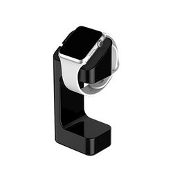 Apple Watch Tilbehør | Apple Watch - Universal Oplader Stand / Holder Stativ - Sort - DELUXECOVERS.DK