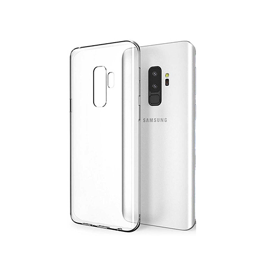Samsung Galaxy S9+ | Samsung Galaxy S9+ (Plus) - Ultra Silikone Cover - Gennemsigtig - DELUXECOVERS.DK