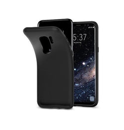 Samsung Galaxy S9 | Samsung Galaxy S9 - PRO+ Design Mat Slim Silikone Cover - Sort - DELUXECOVERS.DK