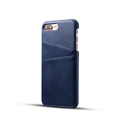 iPhone 7/8 Plus | iPhone 7/8 Plus - NX Design Læder Bagcover Pung - Blå - DELUXECOVERS.DK